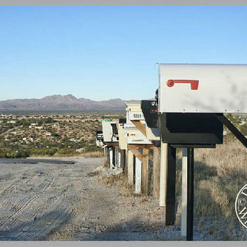 Mailboxes Photography Print 11x16 Fine Art Wall Art Decor Southwest Art Arizona Desert Art
