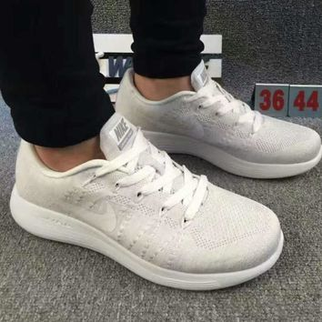 """NIKE"" net surface breathable sneaker running casual shoes White"