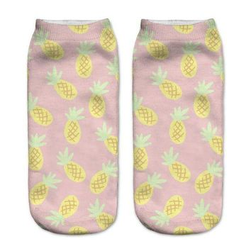 ac spbest Pineapple Ankle Socks