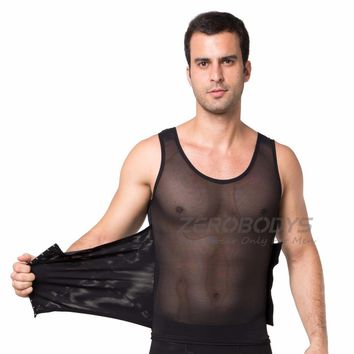 Waist  corsets Men Undershirts mens bodysuit vests compression undershirt Slim singlet Slim Beer belly slimming corset