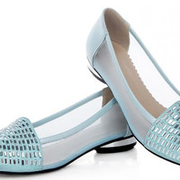 lace fretwork pointed toe casual flat sandals  sexy  ladies heeled footwear heels shoes size 32-43 P17213