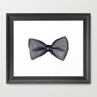 Black Bow Framed Art Print by Social Proper