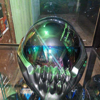 Alien Predator Motorcycle Helmet Dot Approved Basic Helmet