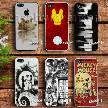 funny cat case,iron man art case,piano case,skull romance case, alice and wonderland case,mickey mouse poster case
