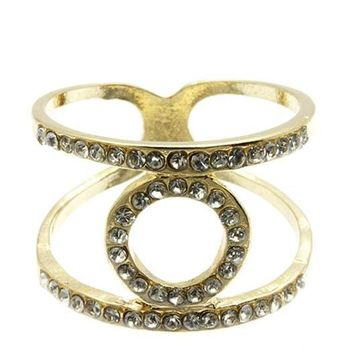 Circle Cutout Double Layer Ring 228