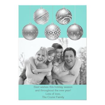 Chirstmas Balls Christmas Photo Holiday Card