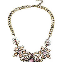 VINTAGE PINK FLOWER FRONTAL NECKLACE