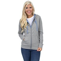 Preptec Zip Hoodie in Lilac by Lauren James - FINAL SALE