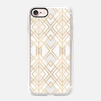 Golden Geo iPhone 7 Case by Elisabeth Fredriksson | Casetify