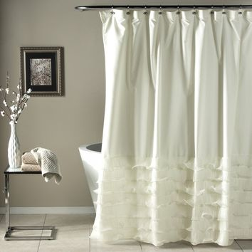The Coco Tier Ruffle Shower Curtain