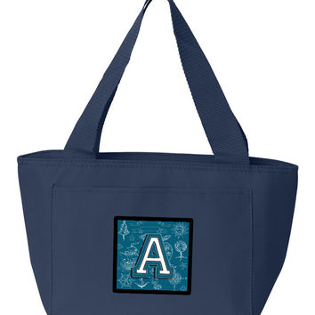 Letter A Sea Doodles Initial Alphabet Lunch Bag CJ2014-ANA-8808