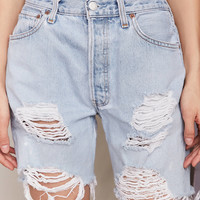 Urban Renewal Recycled Levi's Destroyed Denim Bermuda Short | Urban Outfitters