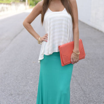Simply Yours Maxi Skirt, Teal