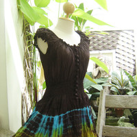 Princess Tie Dyed Cotton Dress - BR0605