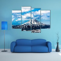 View On Viluchinskiy Volcano Multi Panel Canvas Wall Art