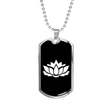 Lotus Flower v2 - Luxury Dog Tag Necklace
