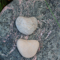 2 Beach Hearts Rock Hearts Heart Stones