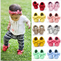 2016 Brand Baby Shoes Newborn Boys Girls Shoes PU Leather Infant Shoes Baby Moccasins 0-18 Months