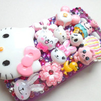 Decoden Kawaii Blackberry Torch 9800 Hello Kitty by FunkyDestash