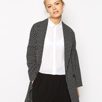 Fashion Union Longline Jacket In Check
