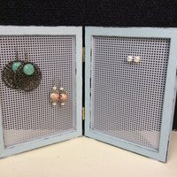 Earring storage, earring frame, earring display, double frame for earrings, earring stand, Jewelry frame, stud earring holder, loop earring
