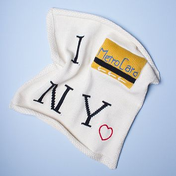 "Estella Organic Cotton Lovey or Baby Toy Security Blanket - Metrocard 14"" x 14"""