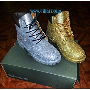 Mail In Your Own Boots Custom Glitter Timberland Boots