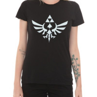 Nintendo The Legend Of Zelda Triumphant Triforce Girls T-Shirt