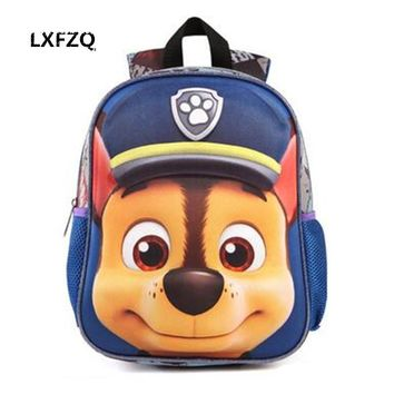 3D Bags for girls backpack kids Puppy mochilas escolares infantis children school bags Cartton Satchel School knapsack Baby bags