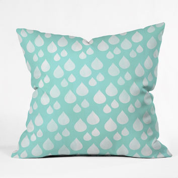 Allyson Johnson Rain Drops Throw Pillow