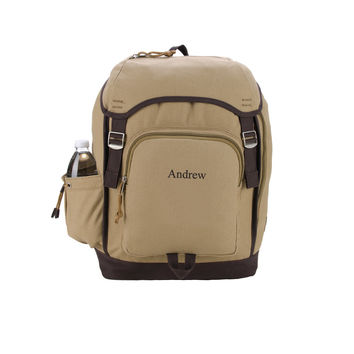 Personalized Khaki Heritage Supply Backpack