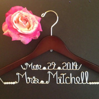 Bridal Hanger two lines, Personalized Custom Bridal Hanger, Brides Hanger, Bride, Name Hanger, Wedding Hanger, Personalized Bridal Gift