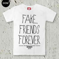 Fake Friends Forever / Minimal T-shirt ,Cool T-shirt ,Friend gift ,Typography tees,Friend Tshirt ,Teen Shirt ,tumblr shirt,Hipster Shirt