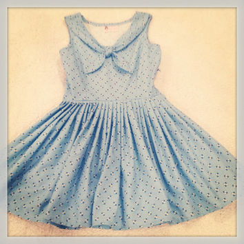 Blue sailor inspired sundress One of a kind by SarahLeoraa on Etsy
