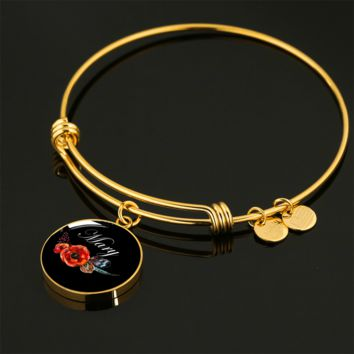 Mary v7b - 18k Gold Finished Bangle Bracelet