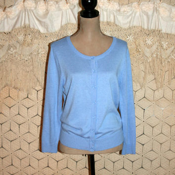 Blue Cardigan Sweater Periwinkle Size Large Casual Women Sweaters Light Sweater Lightweight Summer Sweater Button Up Large Womens Clothing