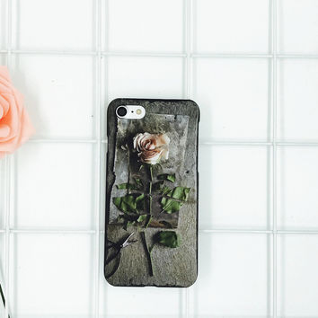 3D Rose Case Cover for iPhone 7 7Plus & iPhone se 5s 6 6 Plus with Gift Box