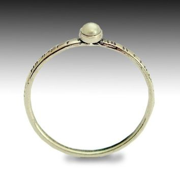Engagement ring a tiny thin grooved sterling by artisanlook