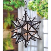 Moroccan Style Decorative Hanging Star Candle Lantern