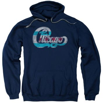 Chicago - Flag Logo Adult Pull Over Hoodie