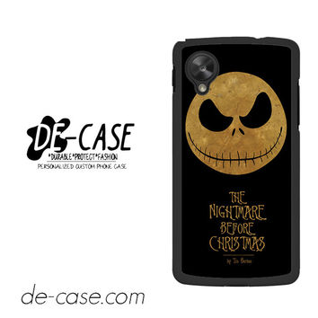 The Nightmare Before Christmas By Tim Burton For Google Nexus 5 Case Phone Case Gift Present YO