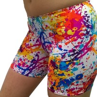 Outta Bounds Paint Splatter bike shorts (Available in 3 lengths)