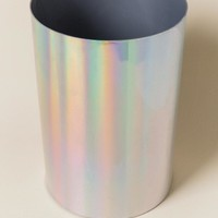 Rainbow Metallic Trash Can