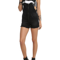 LOVEsick Black Overall Cut-Off Shorts