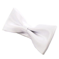 Tok Tok Designs Pre-Tied Bow Tie for Men & Teenagers (B5, White)