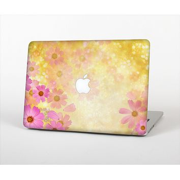 The Yellow & Pink Flowerland Skin Set for the Apple MacBook Pro 13""