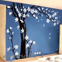 Large size,Vinyl Wall Decal ,Nature Design ,Tree Wall Decals ,Wall stickers ,Nursery wall decal, wall art------Plum blossom tree