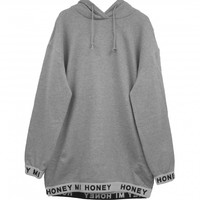 logo long parka | HONEY MI HONEY