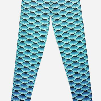 'Ruler of the Seas #mermaid #scales' Leggings by Kerry-Symetria