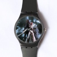 Custom TFinal Fantasy Watches Classic Black Plastic Watch WT-0837